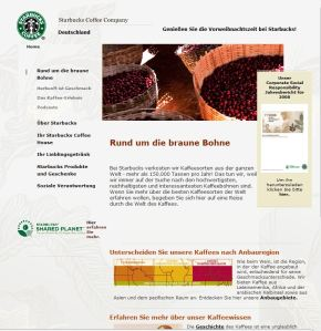 Starbucks Homepage